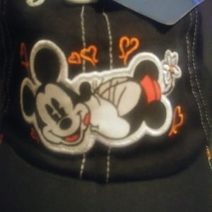Minnie mouse and Mickey mouse dark blue cap